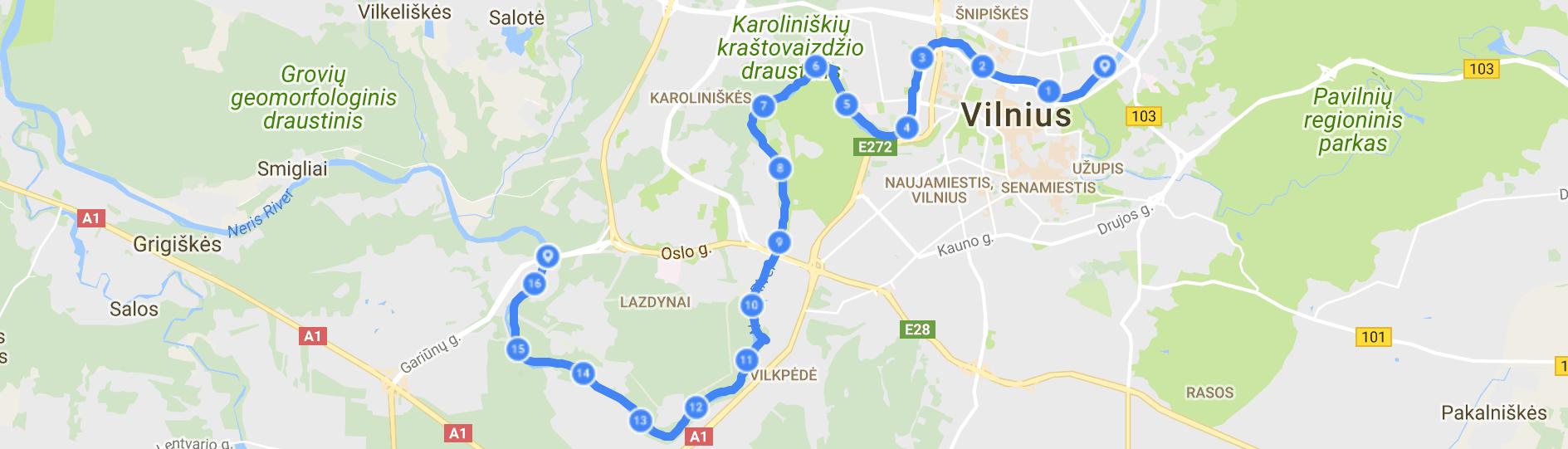 Kayaking in Vilnius